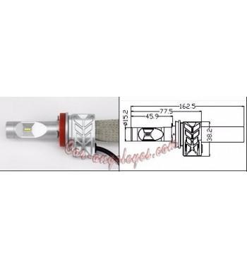 Kit LED H9 para coche y moto (Color blanco puro)