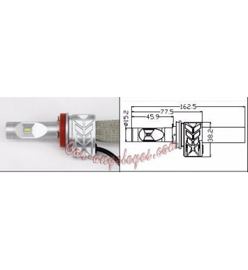 Kit LED H11 para coche y moto (Color blanco puro)