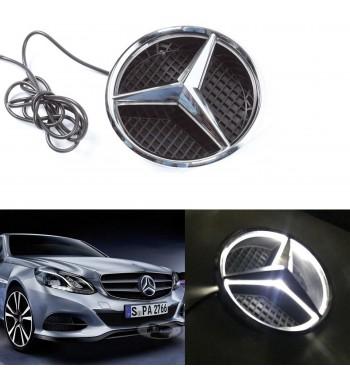 Iluminada LED frontal Estrella Emblema De Luz Para Mercedes Benz