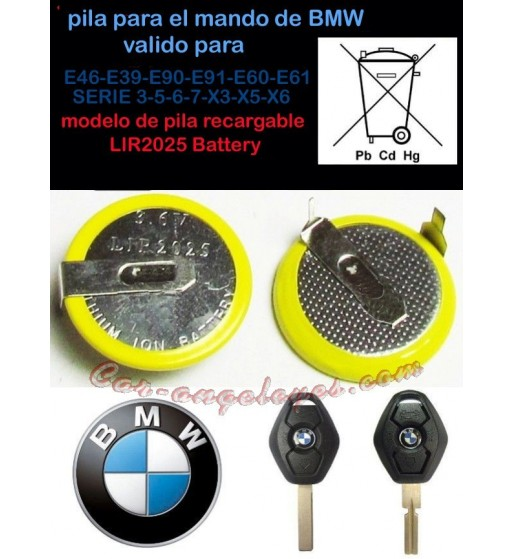pila batería BMW  LIR2025
