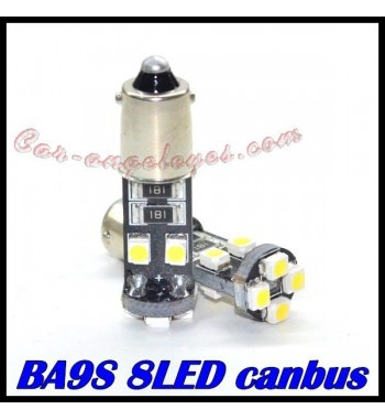 Bombilla 8 led canbus h6w / bax9s