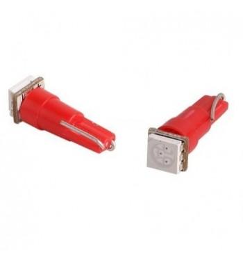 T5 12V bombillas en el tablero de instrumentos LED - SMD LED rojo