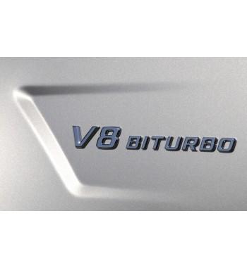 logo lateral modelo V8 BITURBO