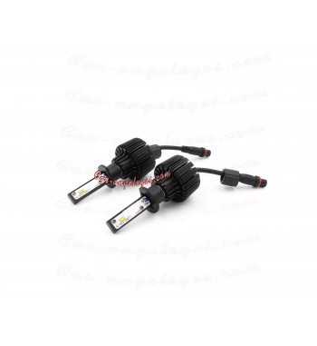 KIT LED H1 PARA COCHE Y MOTO (COLOR BLANCO PURO)