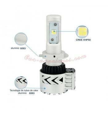 Kit LED H7 para coche y moto 6000LM