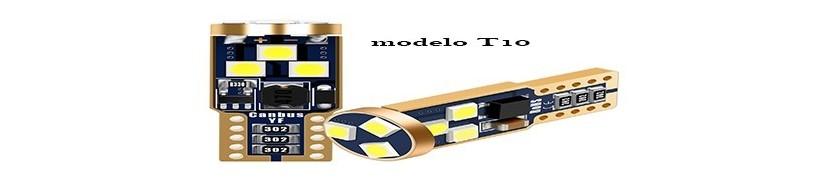 bombillas tipo modelo t10 en led