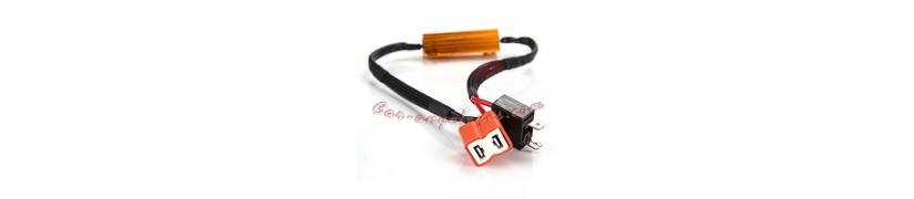 canceladores de fallo para bombillas led y adactadores de base para kit xenon